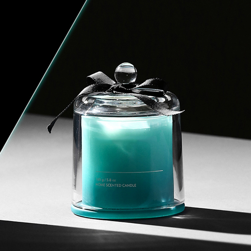 Candle wholesaler luxury scented candle in glass cloche with Customized own brand private label